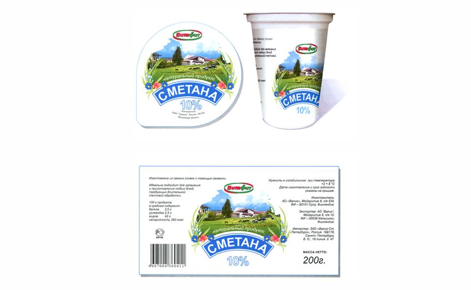 Дизайн упаковки сметаны