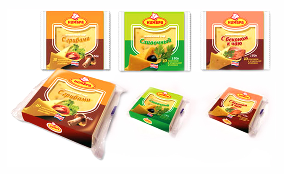 Разработка дизайна упаковки сыра в Воронеже