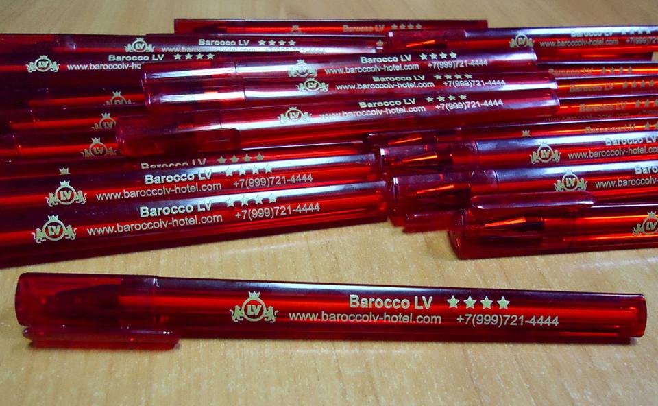 УФ печать на ручках Воронеж. Ручки с логотипом.
